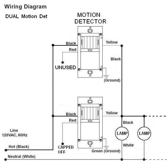 is it possible to connect 2 motion detectors on a light