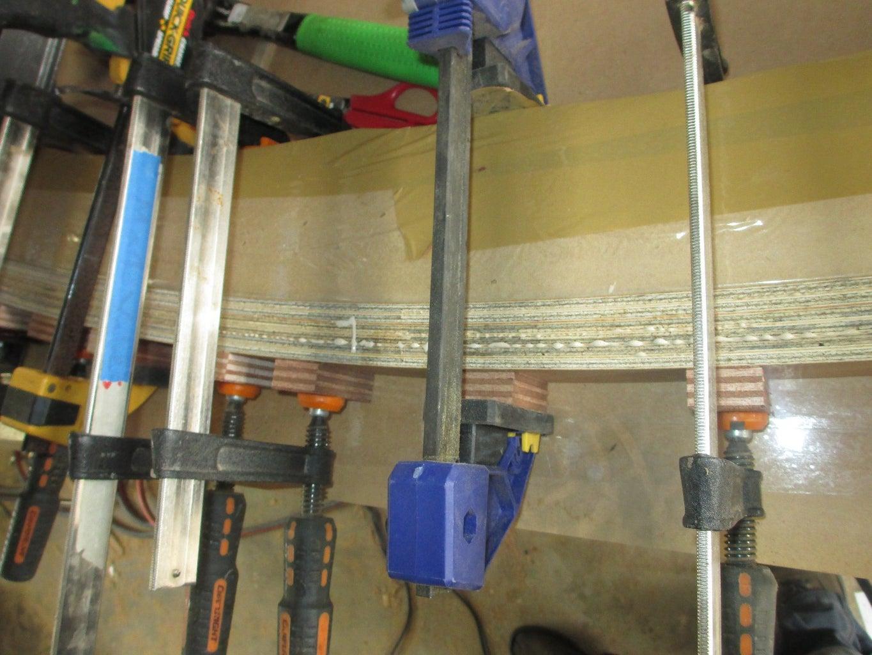 Laminating the Plywood