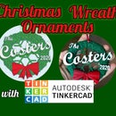 Personalized Wreath Ornament With Tinkercad