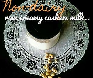 Simple Homemade Non-dairy Raw Cashew Nut Milk.
