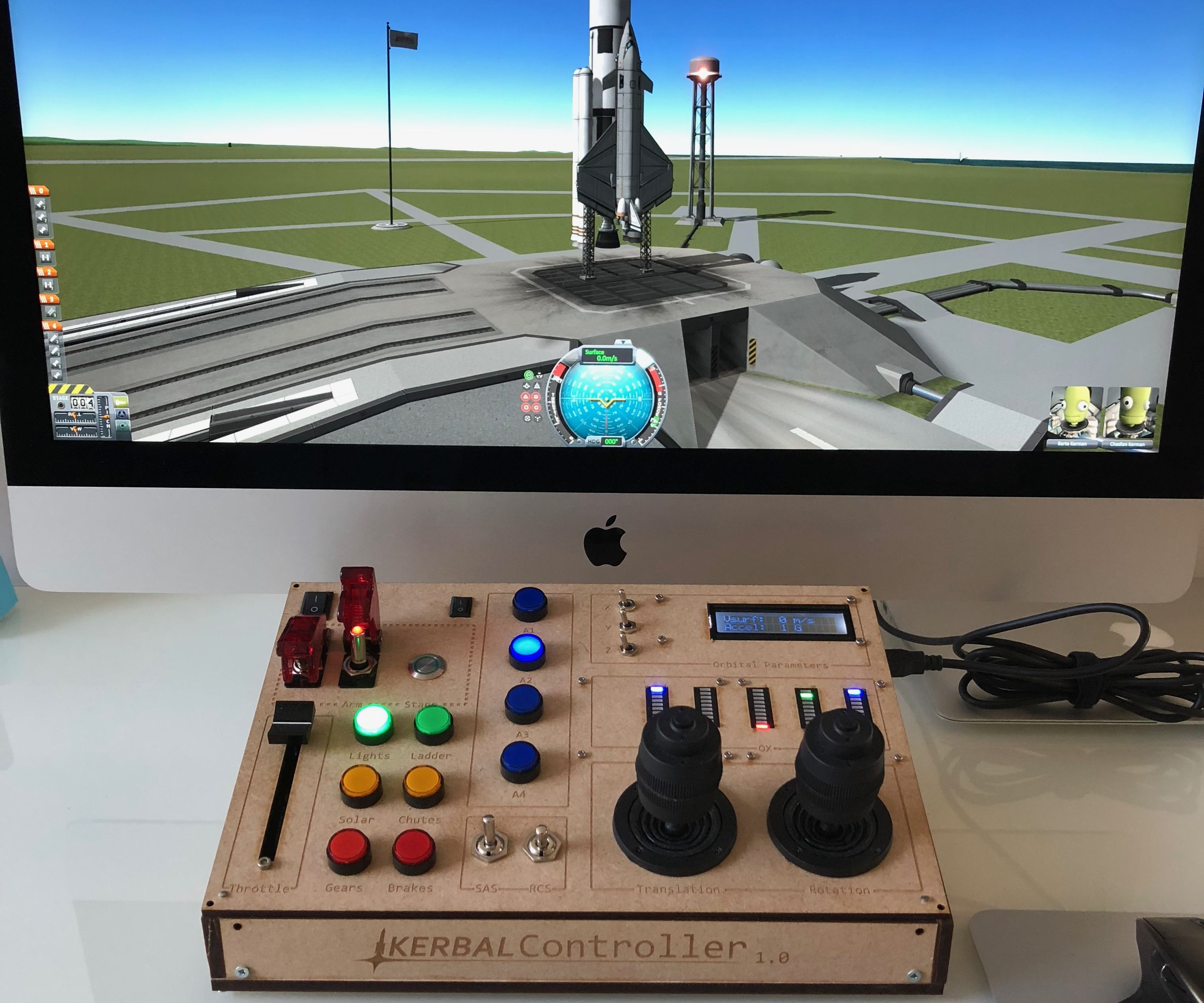 KerbalController: a Custom Control Panel for Rocket Game Kerbal Space Program