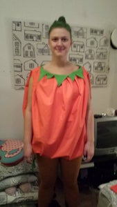 Easy Pumpkin Costume for Adults