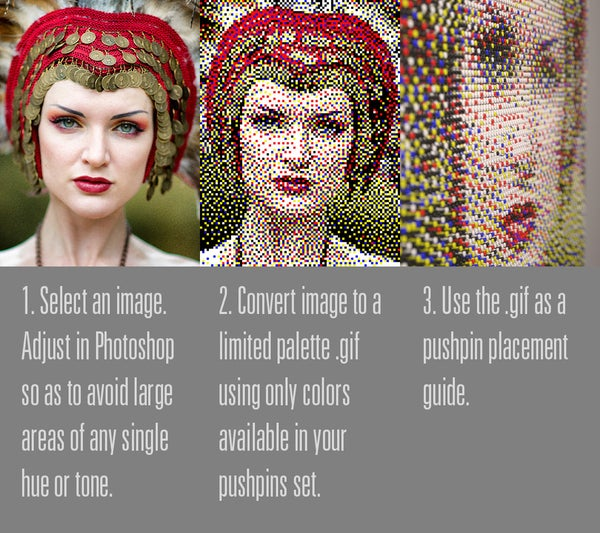 How to Make a Push Pin Portrait