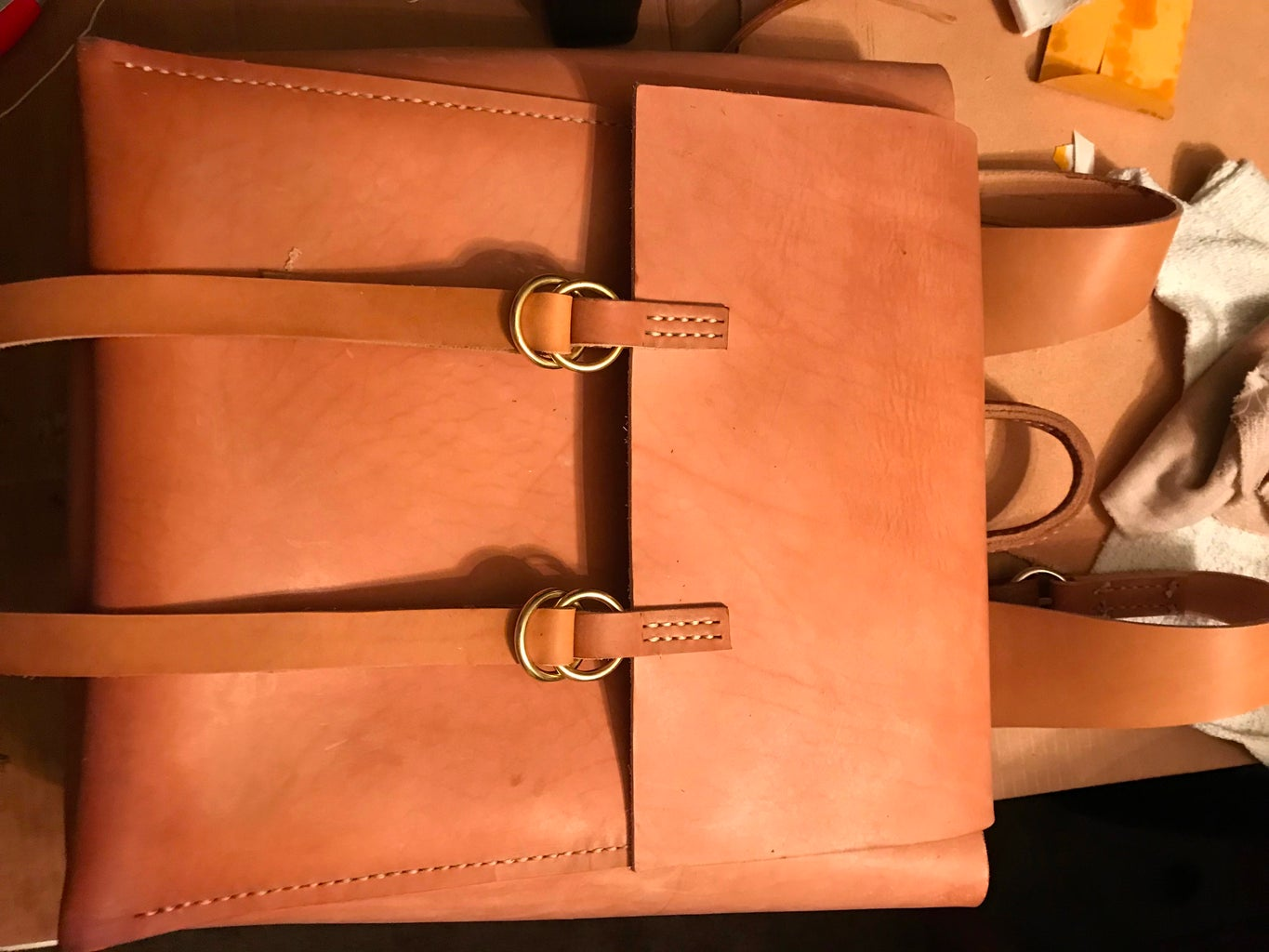 Making the Buckles for the Main Flap