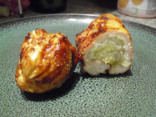 Stuffed BBQ Chicken (sushi Style Roll)