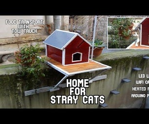 How to make Amazing Stray Cat House from wooden pallets. Heated Pillow,WiFi Camera,Food transporter