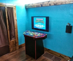 4-Player Pedestal Arcade Cabinet for MAME