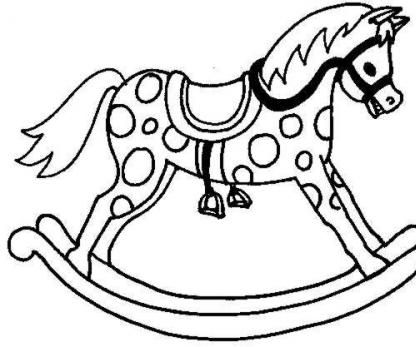 A Traditional Rocking Horse.
