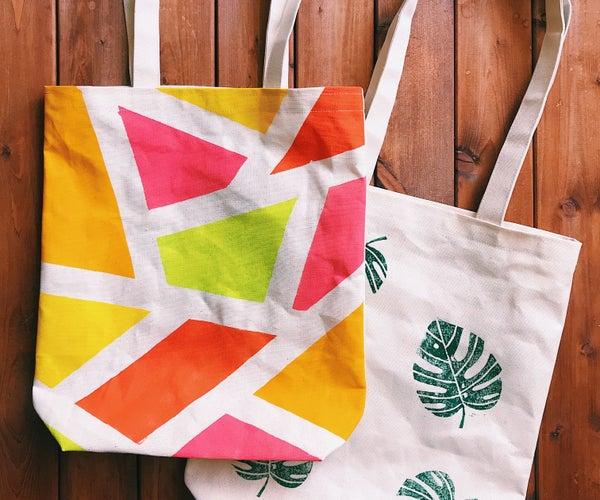 Hand Printed Eco Bag