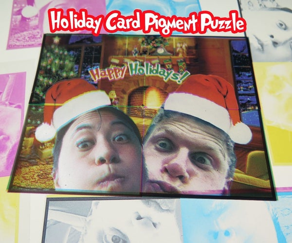 Holiday Card Pigment Puzzle