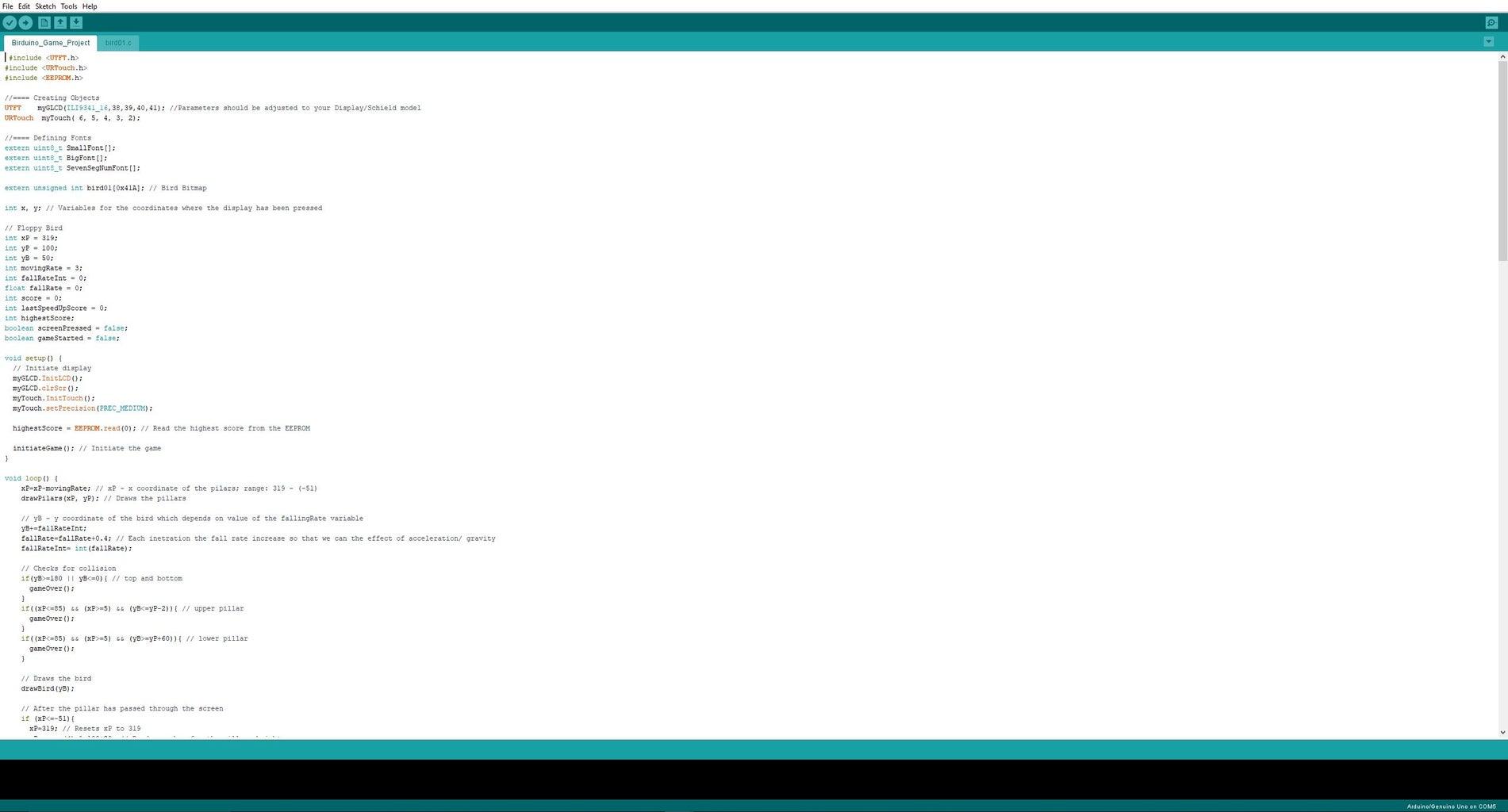 Programming the TFT LCD