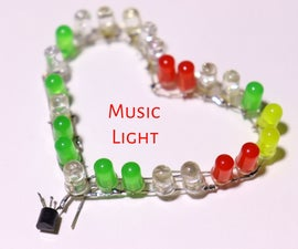 Heart Music Reactive Light