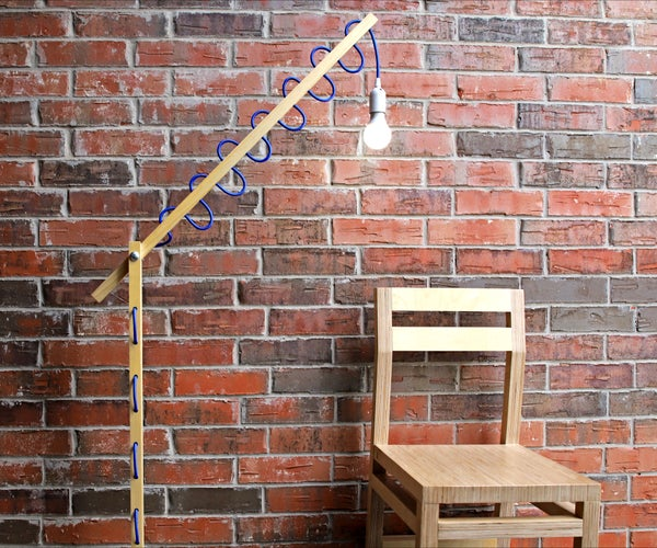 Simple DIY Floor Lamp W/ Laced Cord