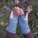 Needle Binding Wrist Warmers