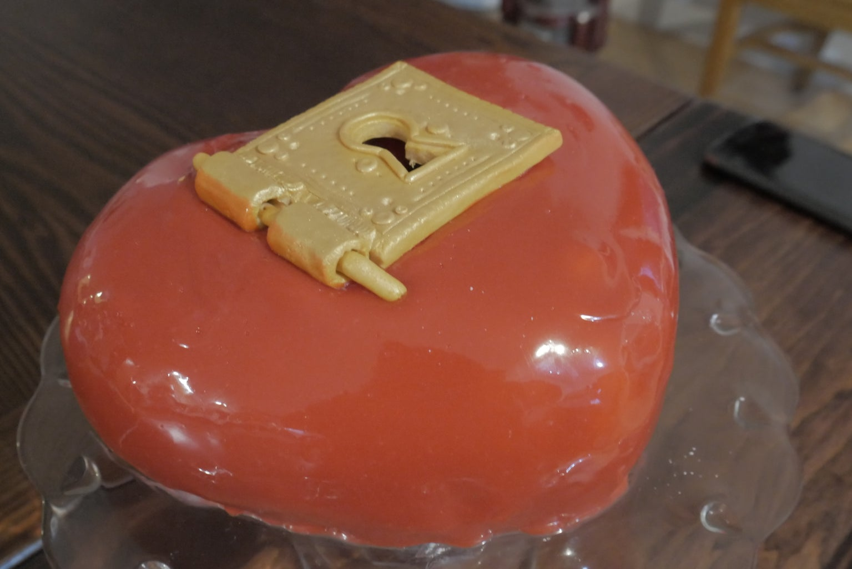 Key to My Heart Love/Proposal Cake