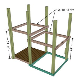 Supports for Second Floor