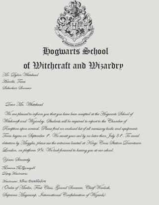Make Your Own Hogwarts Acceptance Letter Instructables