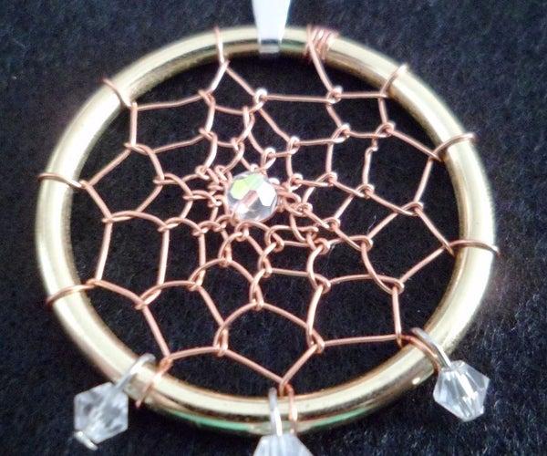 Wire Dream Catcher Pendant