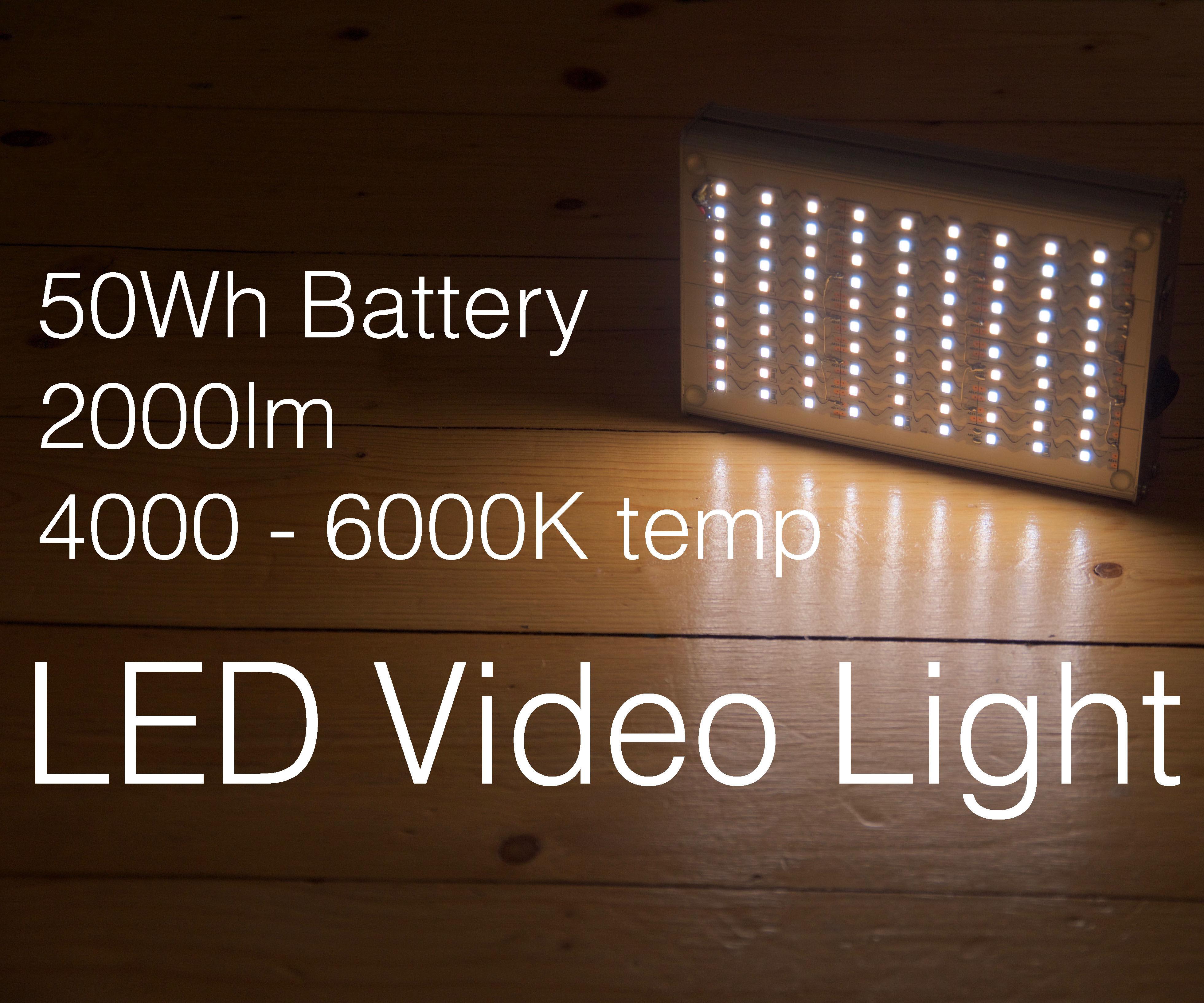DIY portable Video Light