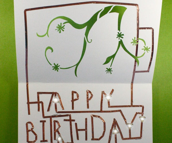 Chibitronics Birthday Card