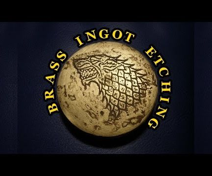 Etching of a Brass Ingot. House Stark Sigil