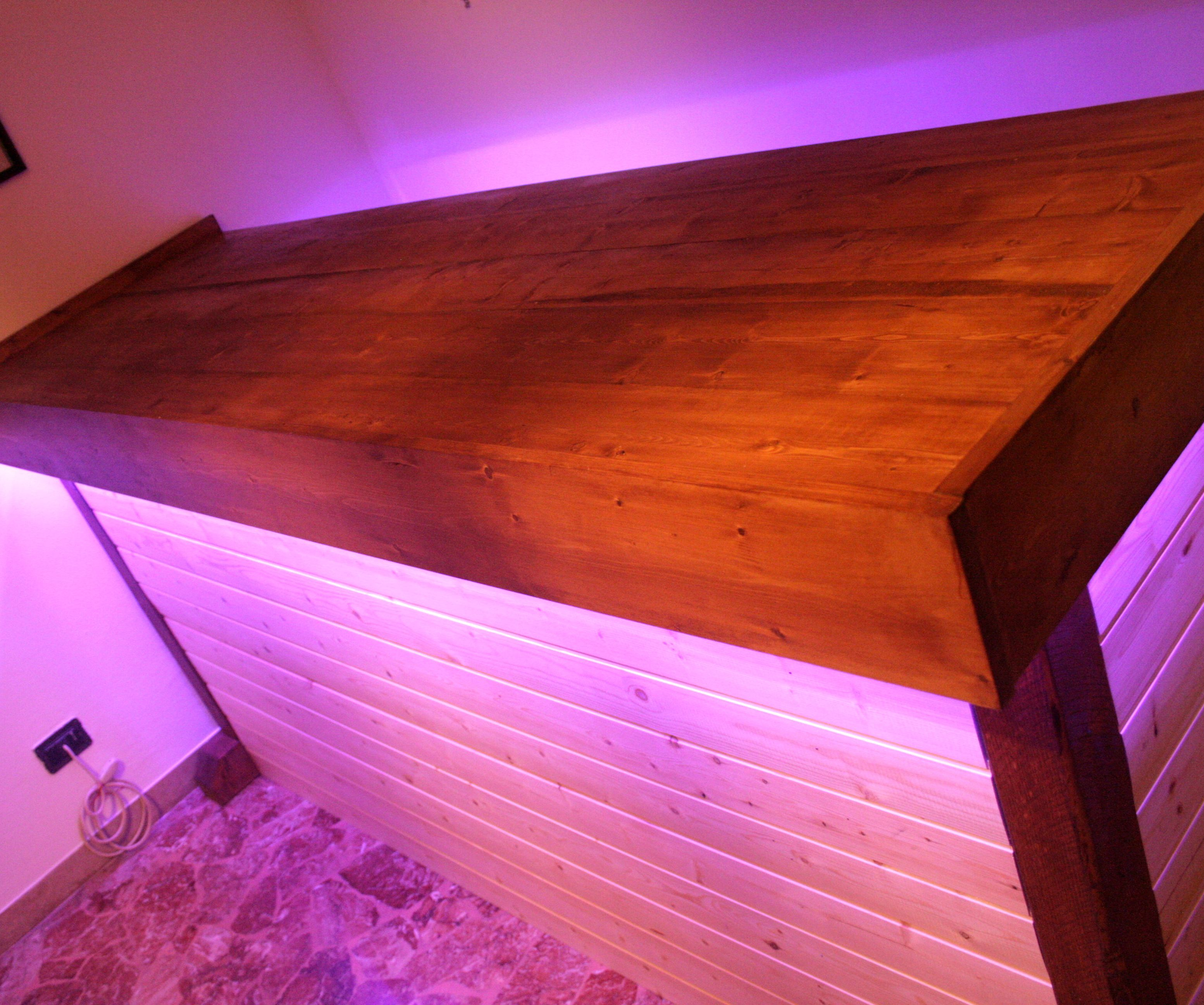 Sturdy Bar Counter With LED Lights