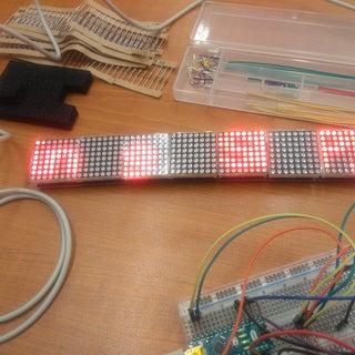 Arduino (SPI) 7 Bi-color LED Matrix Scrolling Text Display
