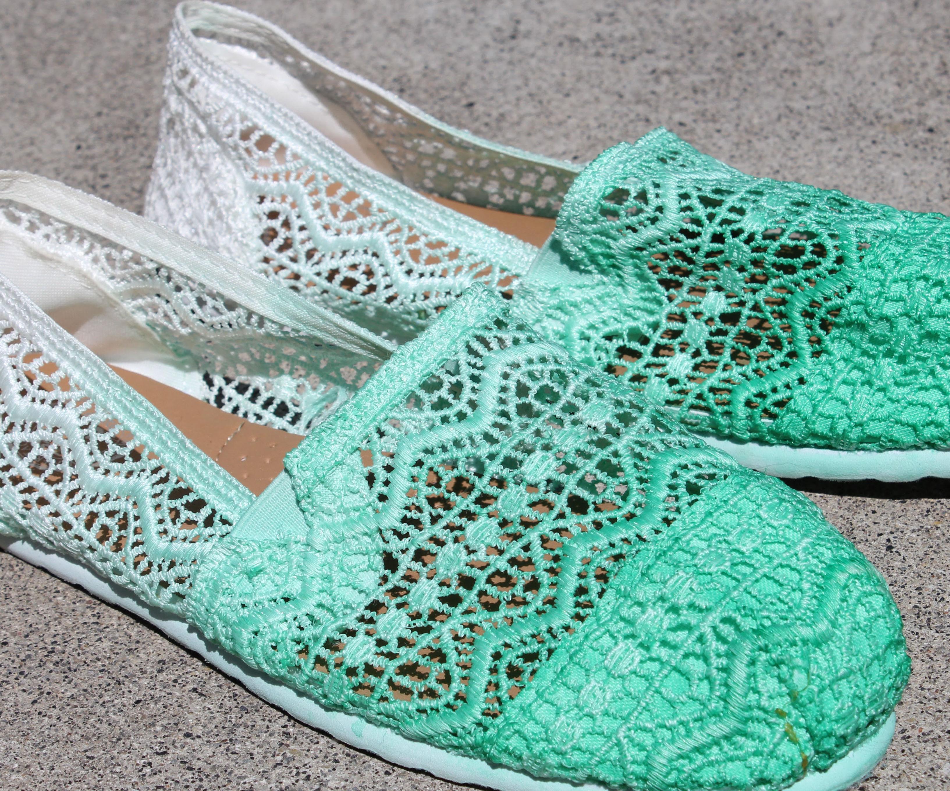 DIY Ombré Dyed Shoes