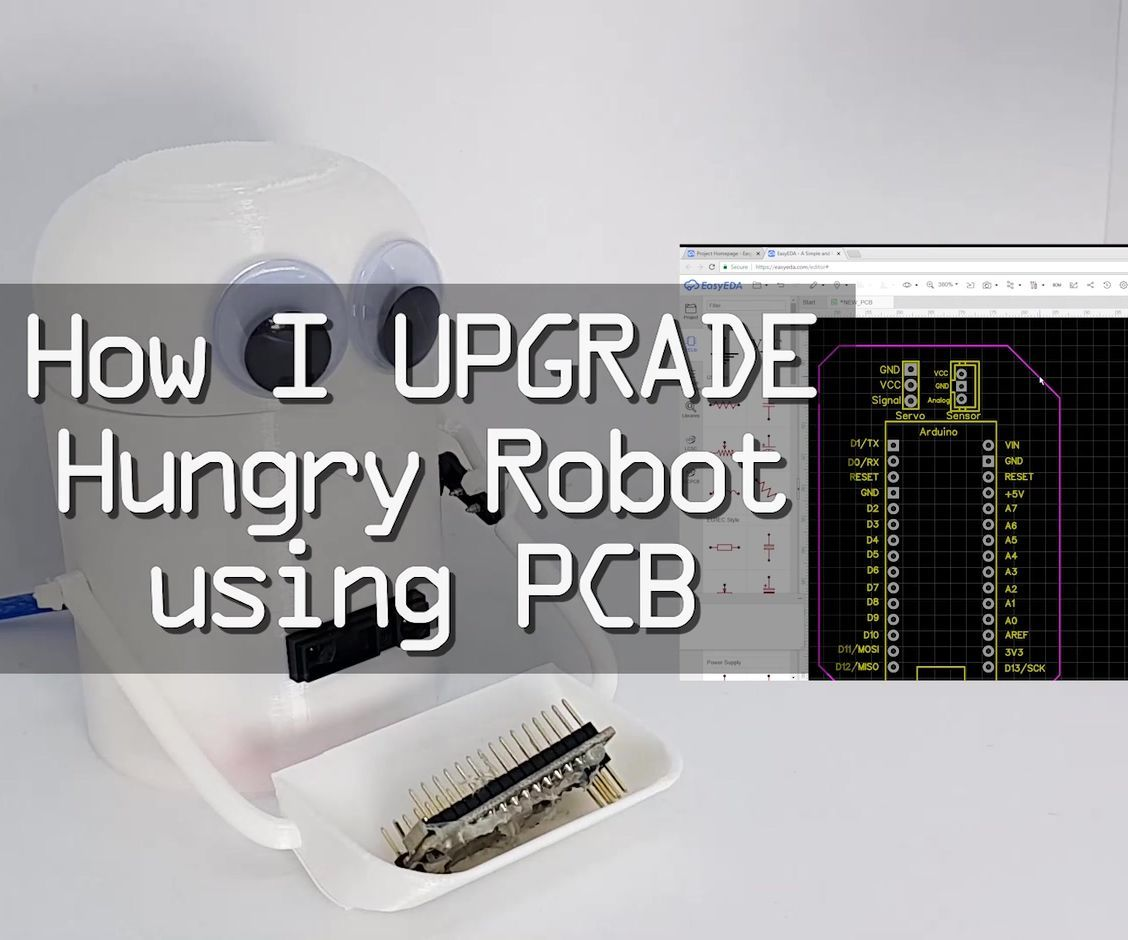 How I Upgraded Hungry Robot With PCB Board