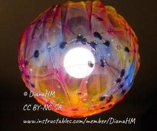如何制作多色球形织物灯罩