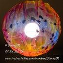 如何制作彩色球形织物灯罩