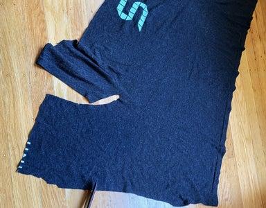 Cut Off the Extra Fabric Near Each Sleeve