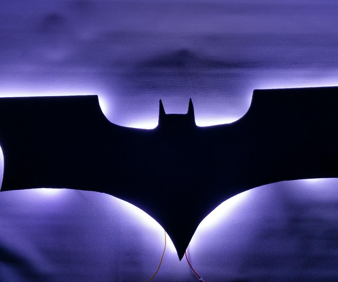 Backlit BatMan Logo