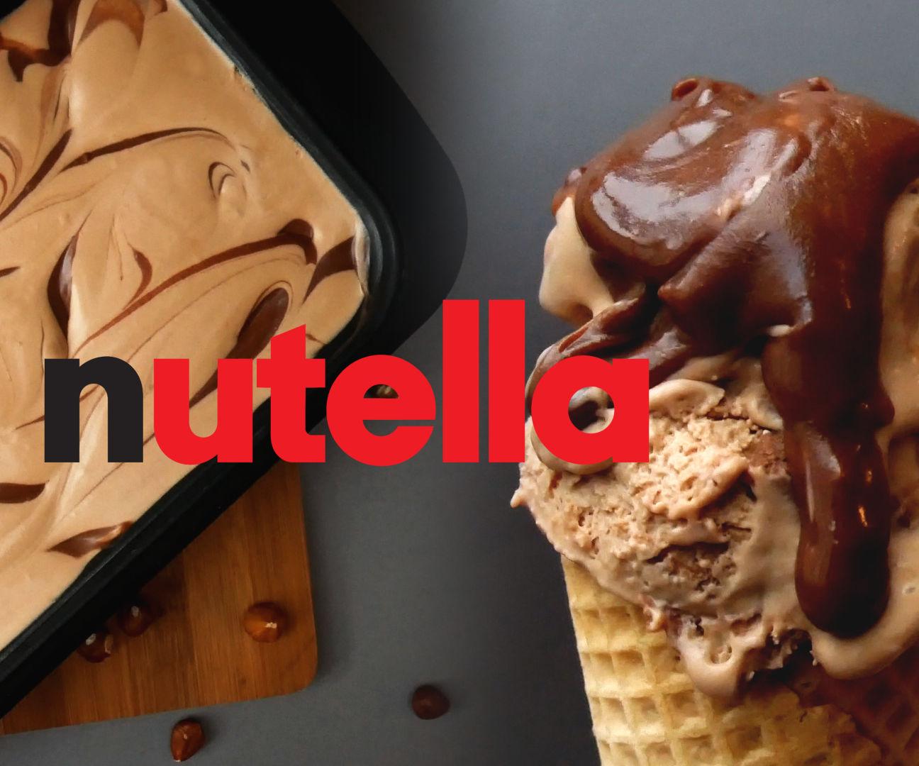 3 INGREDEINT NUTELLA ICE CREAM (NO CHURN)