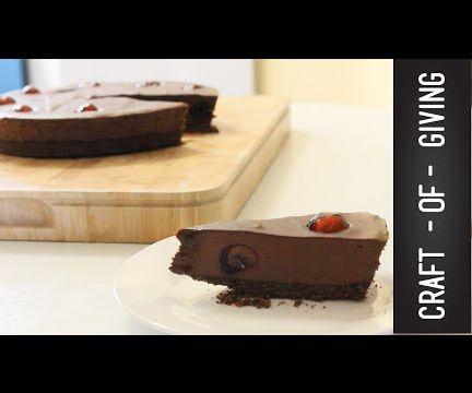 Raw Vegan Chocolate Cherry Tart | Craft of Giving