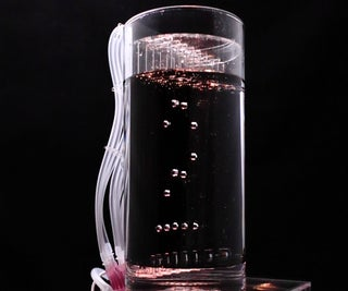 Glowing Air-Bubble Clock; Powerd by ESP8266