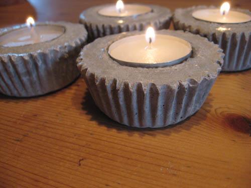 Cupcake teaholder made of concrete