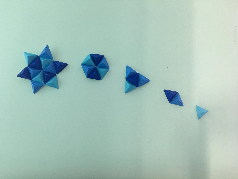3D Origami Wall Art | Triangle Pixel Art