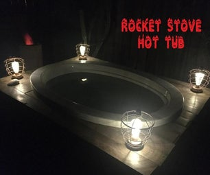 木制火箭炉热水浴缸