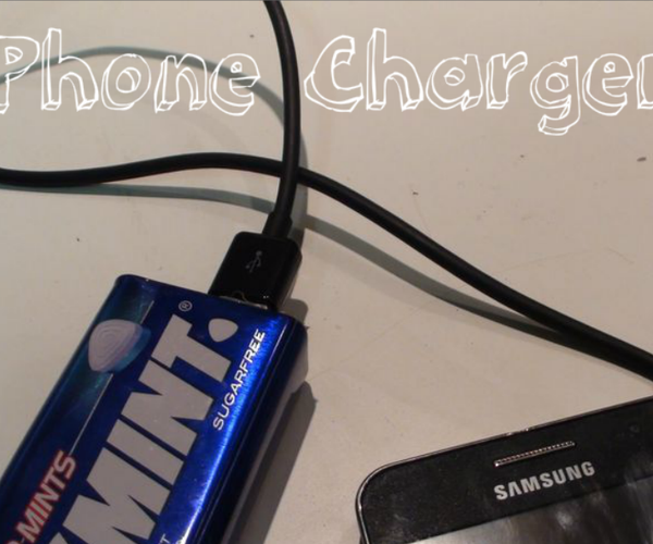 Phone Charger With a Smints Box