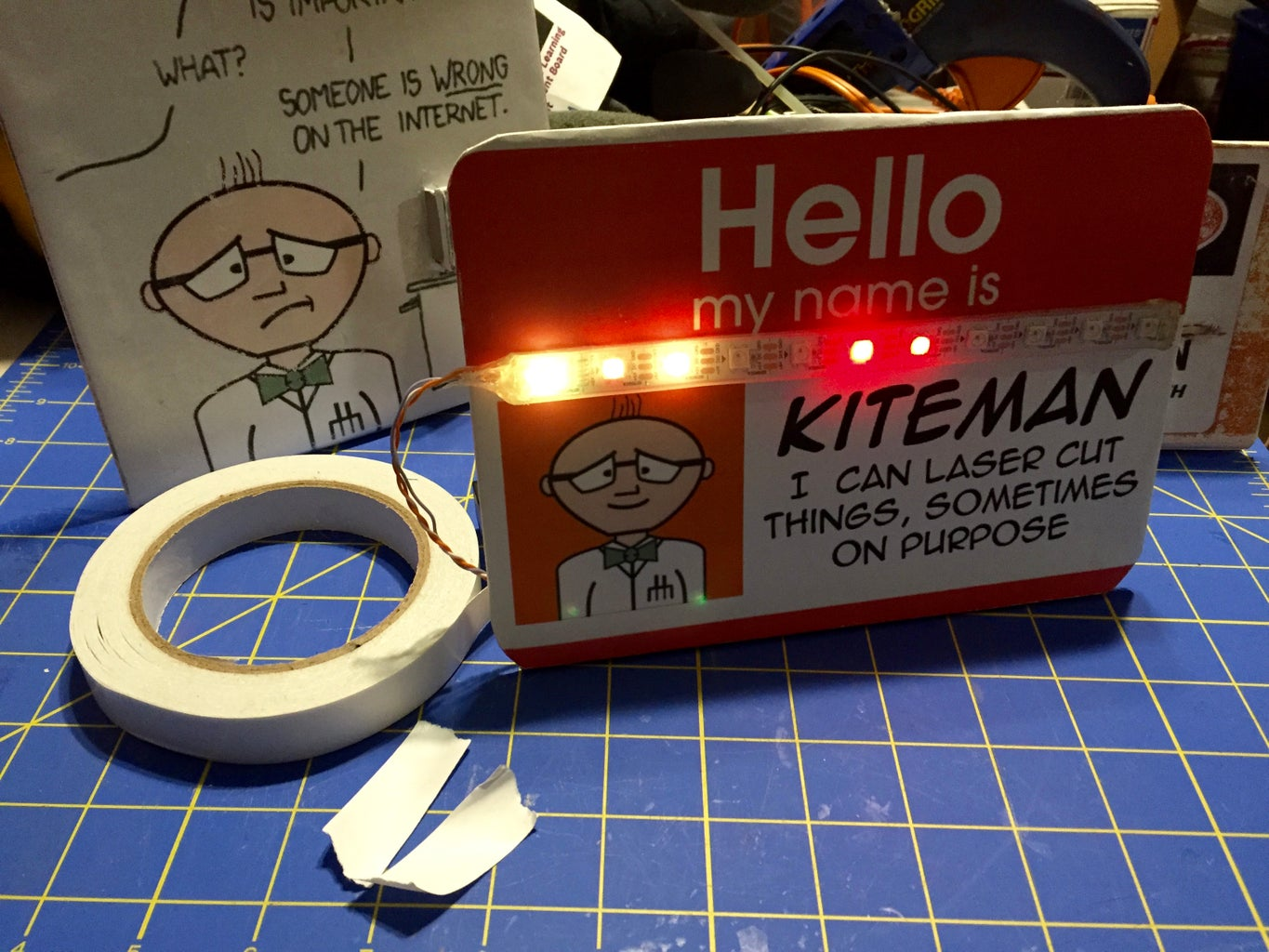 Nifty Neopixel Nameplates and Placards