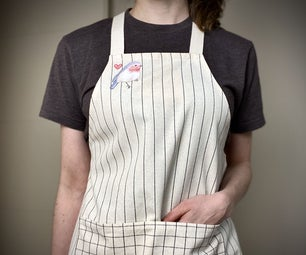 Cross Back Apron From Recycled Tablecloth