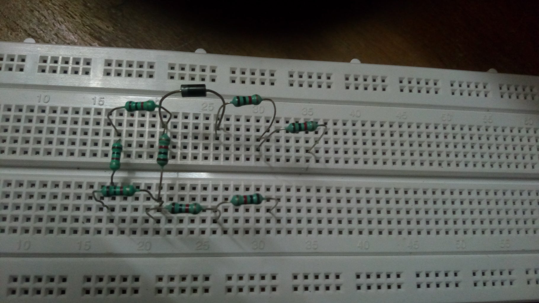 Placing Other Resistors and the Last Diode.