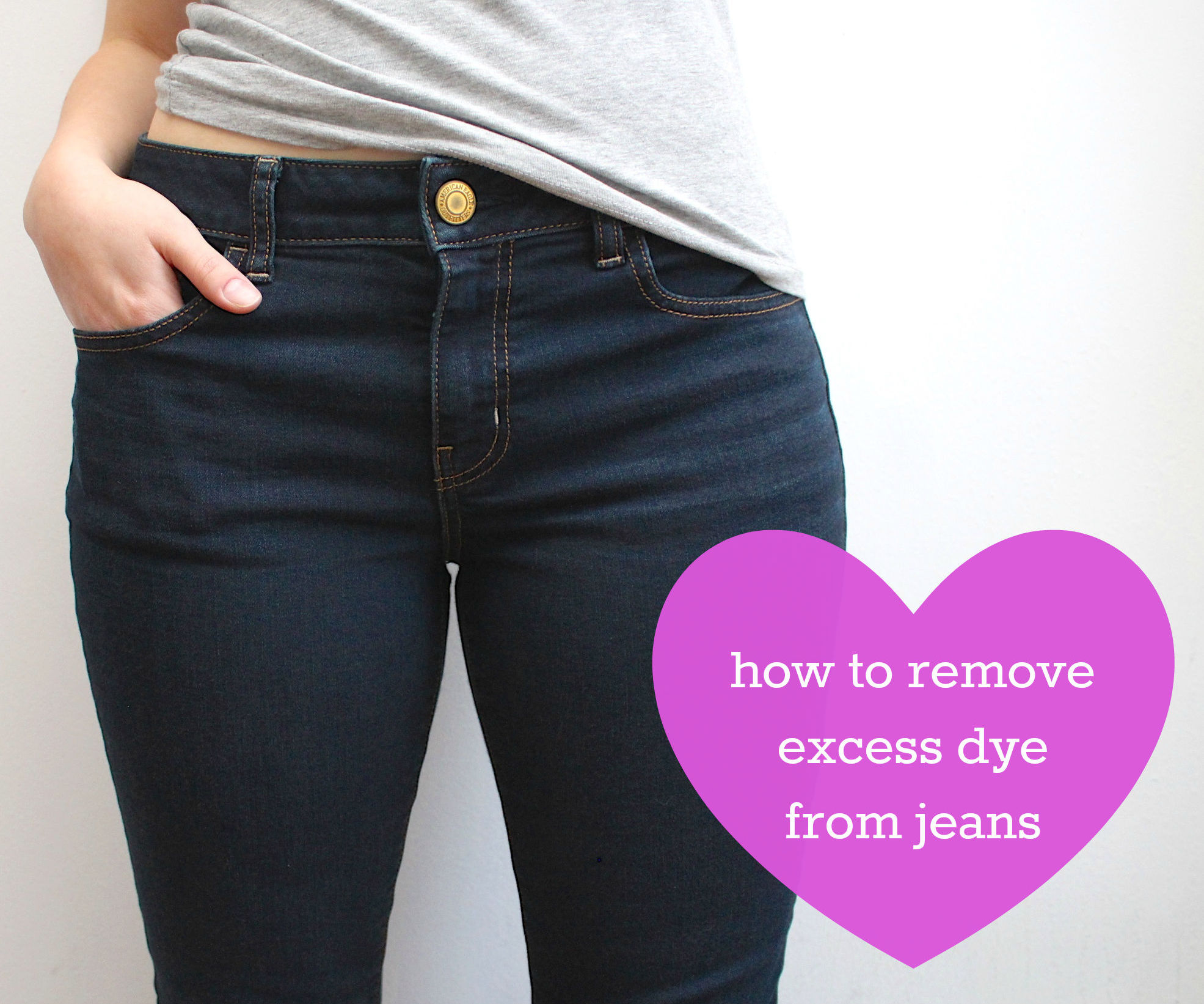 how to remove excess dye from jeans