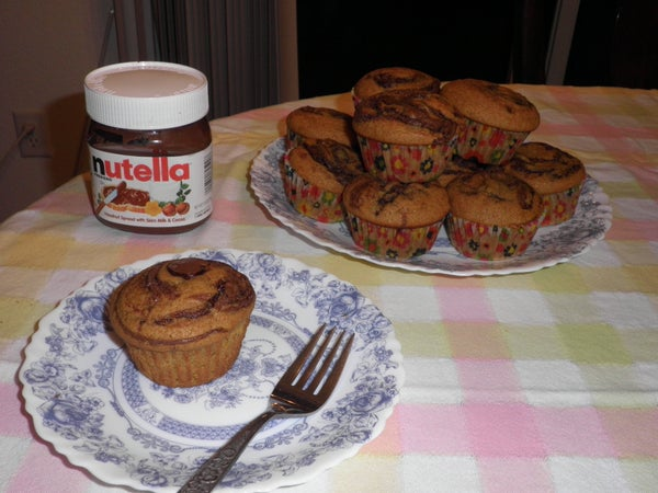 Nutella Pumpkin Muffins