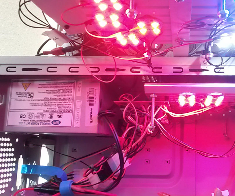 Four Colour LED Grow Light With PWM Dimming