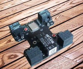 WI-Fi Controlled 4CH Relay Module for Home Automation