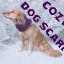 Cozy Knitted Dog Scarf