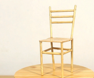 How to Make a Miniature Wooden Chair for Dollhouse