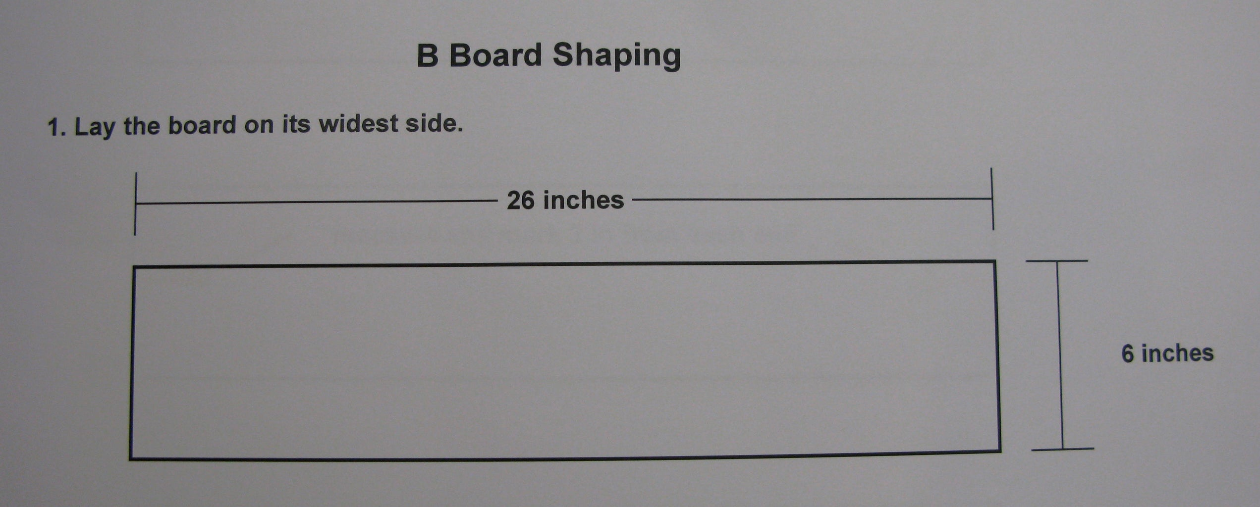 STEP FOUR:  Shape the Maple Boards - B Boards